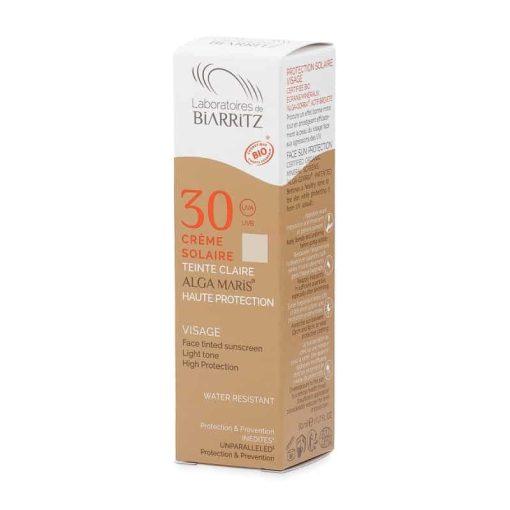 Organic Tinted Face Sunscreen SPF30 (Light) 50ml