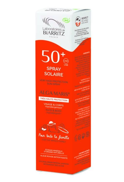 Alga Maris Biologische Zonnebrand Spray SPF50+ Familie verpakking 150ml Pack
